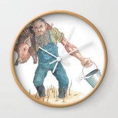 Pig Farmer Wall Clock