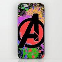 Avenge paint iPhone & iPod Skin