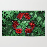 Recycle World - Green Rug