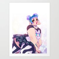 Donut Child Art Print