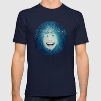 Overly Suffocating  Mens Fitted Tee Navy SMALL