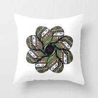 covered woman mandala Throw Pillow