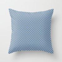 Kanoko In Monaco Blue Throw Pillow