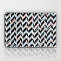 Herringbone Black and Blue #2 Laptop & iPad Skin