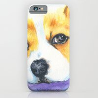 iPhone & iPod Case featuring Corgi Love by KristinMillerArt