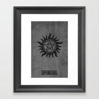 Supernatural Minimalist … Framed Art Print