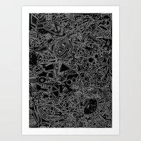 White/Black #1 Art Print