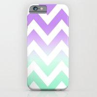 GREEN & PURPLE CHEVRON FADE iPhone 6 Slim Case