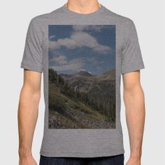 Clark Peak Mens Fitted Tee Athletic Grey SMALL