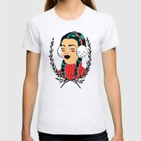 Winter Girl II Womens Fitted Tee Ash Grey SMALL