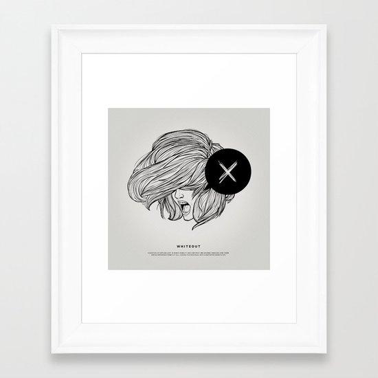 STV - Whiteout Framed Art Print