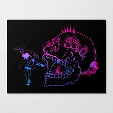 Candy skull peek Canvas Print