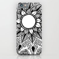 Black and White Doodle 2 iPhone 6 Slim Case