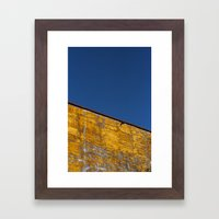 yellow-blue Framed Art Print