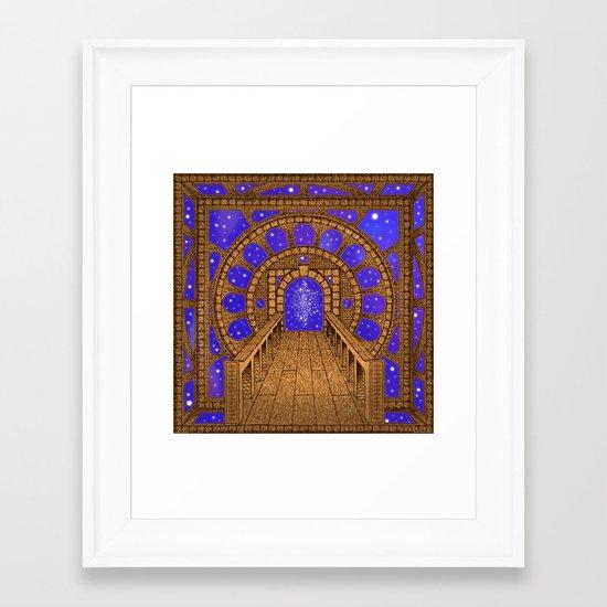 orvio illuminated space mandala Framed Art Print