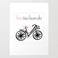 bicitecleando Art Print