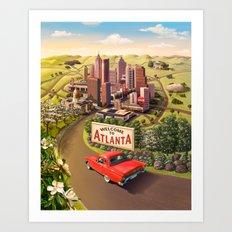 Welcome to Atlanta Art Print