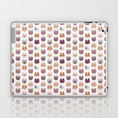 Cute Kitty Cat Faces Pattern Laptop & iPad Skin