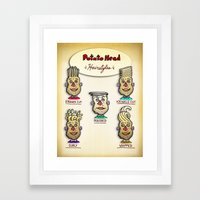 Classic Potato-Head Hair… Framed Art Print