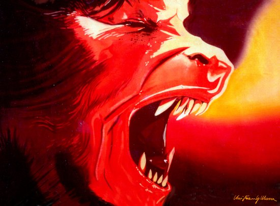 An Italian Werewolf In London Art Print