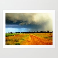 Tracking A Storm Art Print