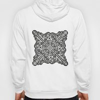 Black Lotus Lace Illustration Pattern Hoody