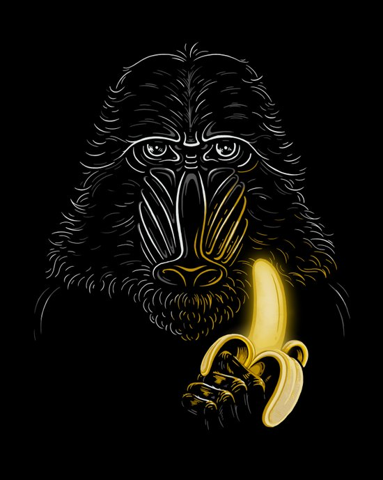Darth Mandrill Art Print