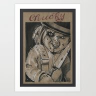 Clockwork Chucky (DRAWLL… Art Print