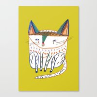 Cat. cats, kitten, cat art, cat illustration, cat pattern Canvas Print