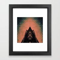 Graphic Building Framed Art Print
