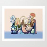 Abstract Drawing 9508 Art Print