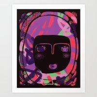 Protect_BLACK Art Print