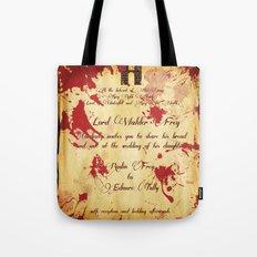 Red Wedding Tote Bag