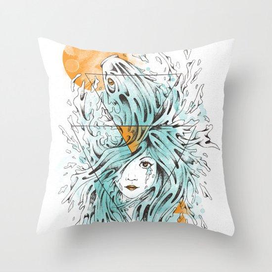 ariel 2.0 Throw Pillow