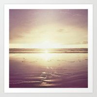 Purple Shores Art Print