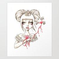 Honey Blood Art Print