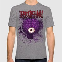 Brainy Mens Fitted Tee Tri-Grey SMALL