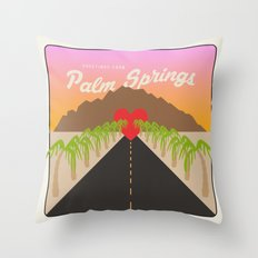GREETINGS FROM PALM SPRINGS Throw Pillow