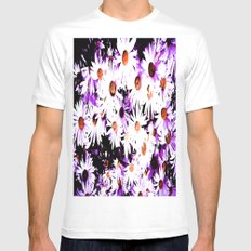 Painted daisy  Mens Fitted Tee White SMALL