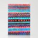 PATTERN {Tribal Stripe- Aqua} Stationery Cards