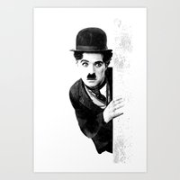 MR CHAPLIN Art Print