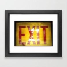 Vintage Exit  Framed Art Print