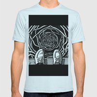 THE EDGE Mens Fitted Tee Light Blue SMALL