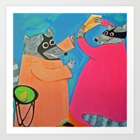 Altercation over Cheese Art Print