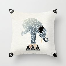 Elephant Circus  Throw Pillow