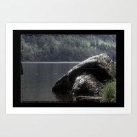 Glendalough Lake Art Print