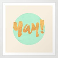 Yay! MINT AND GOLD Art Print