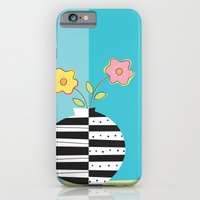 round whimsy vases with flowers iPhone 6 Slim Case