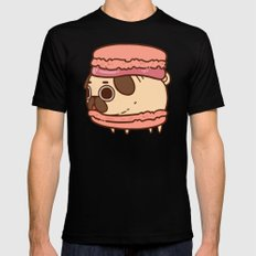 Puglie Macaron Mens Fitted Tee Black SMALL