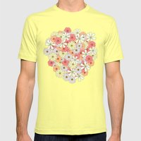 Flowers Mens Fitted Tee Lemon SMALL